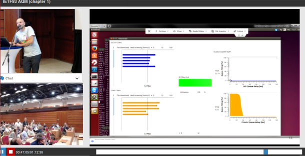 30-minute video Presentation of DualQ Coupled AQM, IETF AQM wg, July 2015, Prague